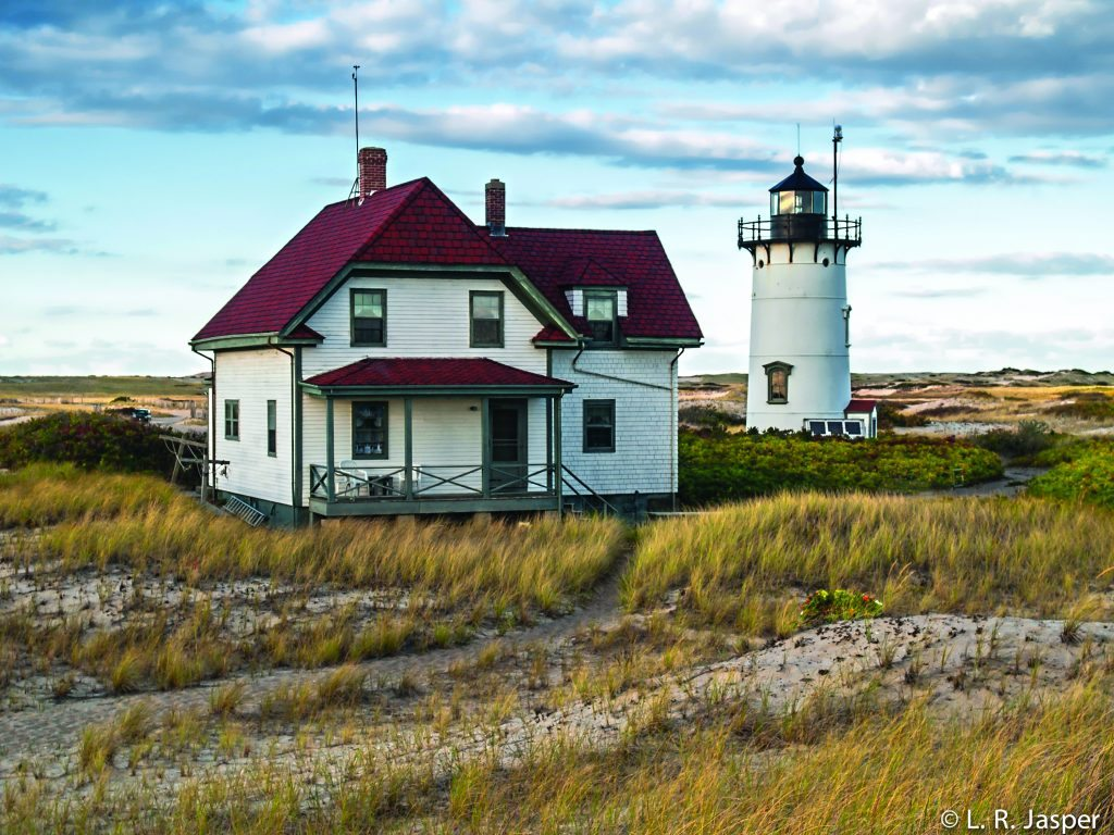 This lighthouse is available for summertime rentals. Race Point, Provincetown, Cape Cod
