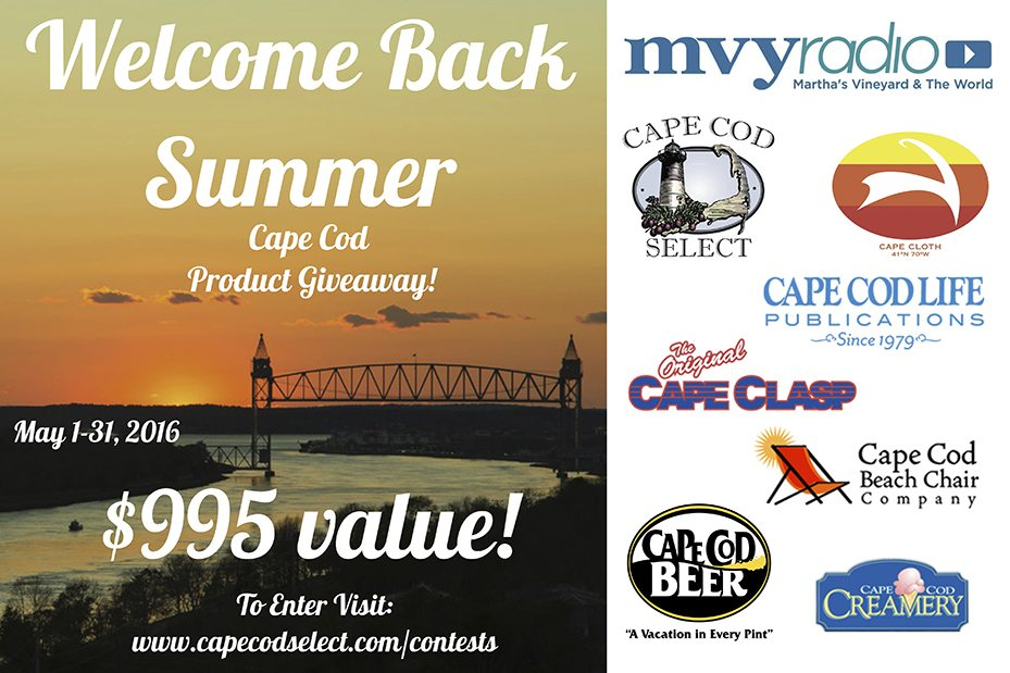 Welcome Back Summer, Cape Cod Giveaway