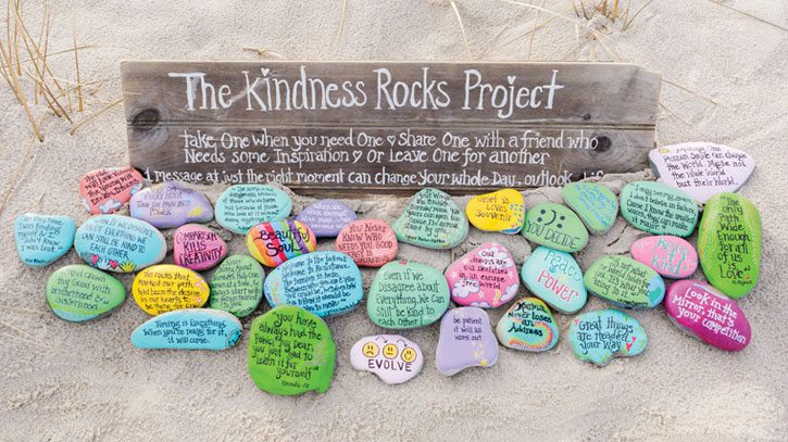 Cape Cod's Kindness Rocks Project, Cape Cod Life, April 2017 | capecodlife.com